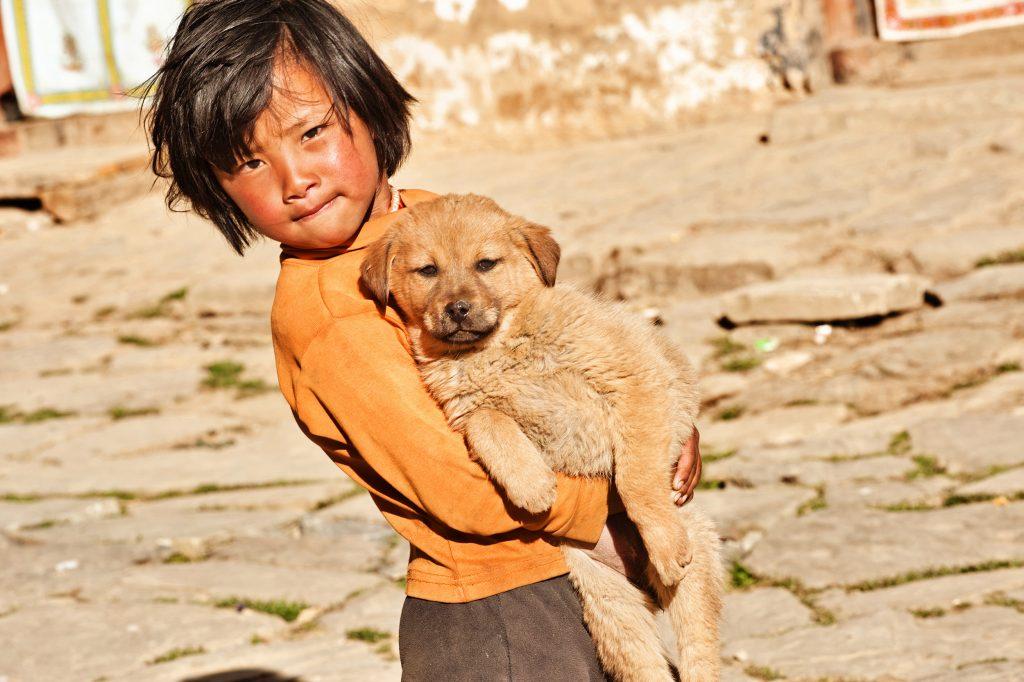 Bhutan: Kid and Puppy - Amanda Fornal