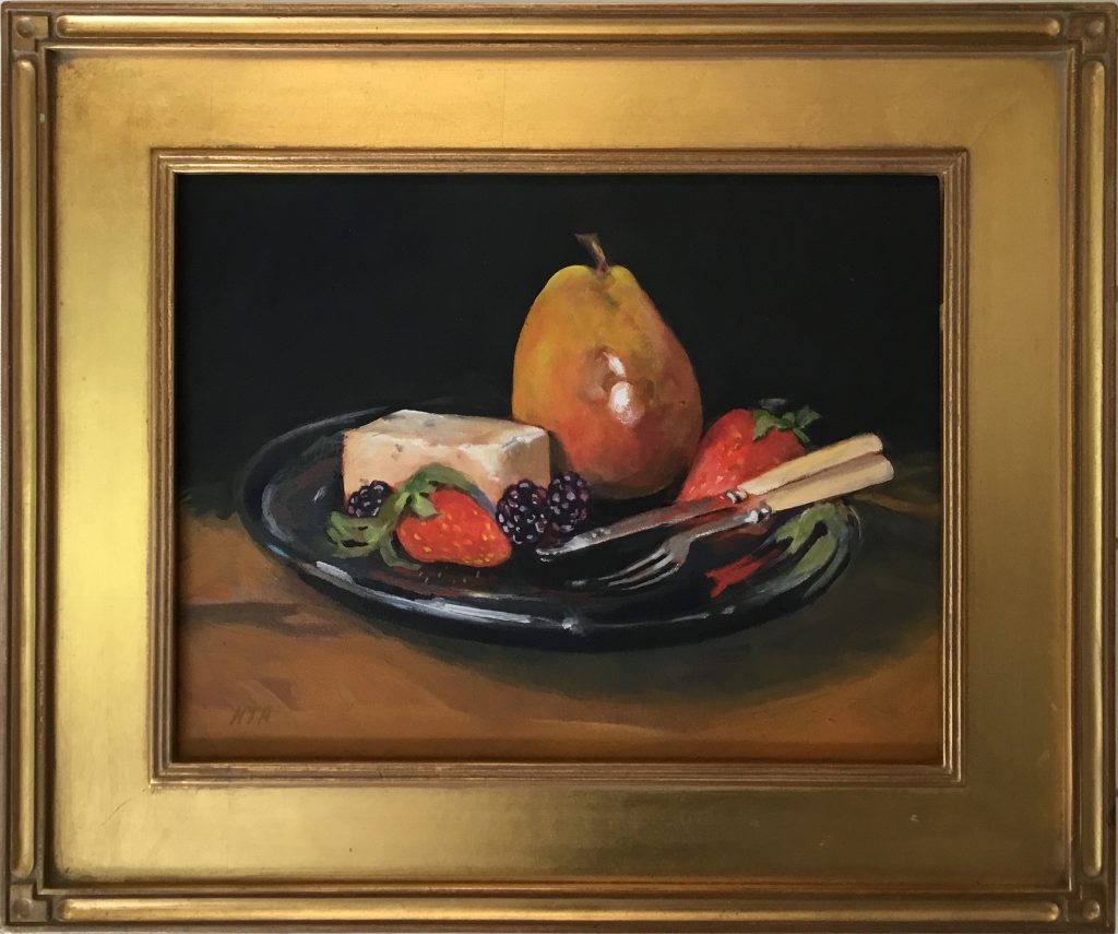 Still Life on a Blue Plate - Nancy Armstrong